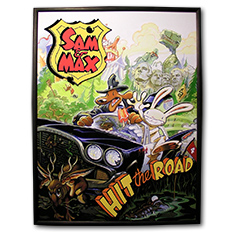 Décoration Cadre Relief 40 x 30 cm Sam & Max Hit the Road
