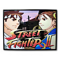 Décoration Cadre Relief 40 x 30 cm Street Fighter 2