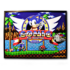 Décoration Cadre Relief 40 x 30 cm Sonic the Hedgehog